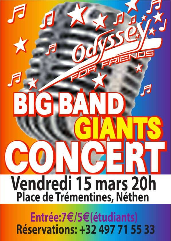 Affiche Concert Odyssey for Friends 15 mars 2019